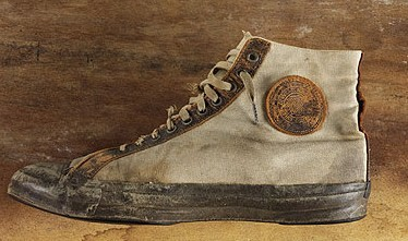 1917-1919 Converse All-Stars high-top shoes.